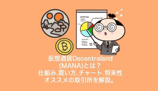 仮想通貨Decentraland(MANA)とは?やめるべき?仕組み・買い方・チャート・将来性・オススメの取引所を解説。