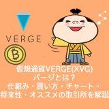 仮想通貨VERGE(XVG)バージとは?やめるべき?仕組み・買い方・チャート・将来性・オススメの取引所を解説。