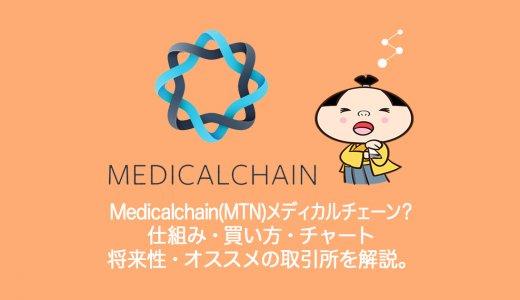 仮想通貨Medicalchain(MTN)メディカルチェーンとは?発行枚数・買い方・チャート・将来性・取引所まとめ