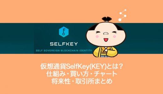 仮想通貨SelfKey(KEY)セルフキーとは?やめるべき?仕組み・買い方・チャート・将来性・オススメの取引所を解説。