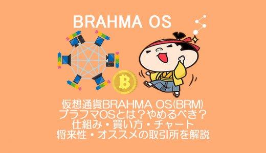 仮想通貨BRAHMA OS(BRM)ブラフマOSとは?やめるべき?仕組み・買い方・チャート・将来性・オススメの取引所を解説。