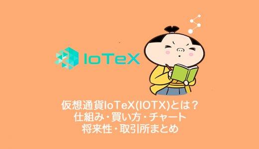仮想通貨IoTeX(IOTX)アイオーテックスとは?仕組み・買い方・チャート・将来性・取引所まとめ